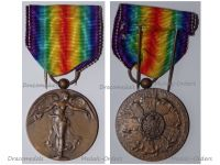 Belgium WW1 Victory Interallied Medal Laslo Official Type by Paul Dubois