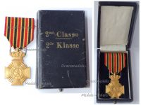 Belgium WW1 Military Decoration for Loyal Service 2nd Class (10 Years) for NCOs King Albert 1909 1934 Boxed