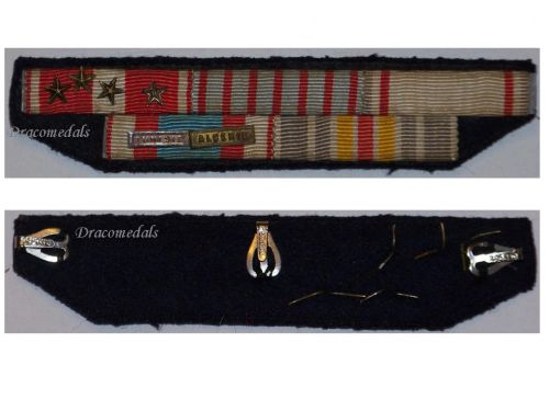 France WWII Cross Valor Combatants Colonial Medal Algeria Tunisia Wound  Ribbon bar French Decoration Award