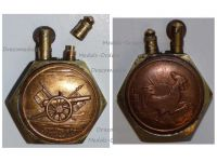France Trench Art WW1 Lighter French Rooster Artillery Gun 75mm by Fleury & Thiaumont