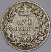 Britain British Coins Shilling Farthing Pence Victoria