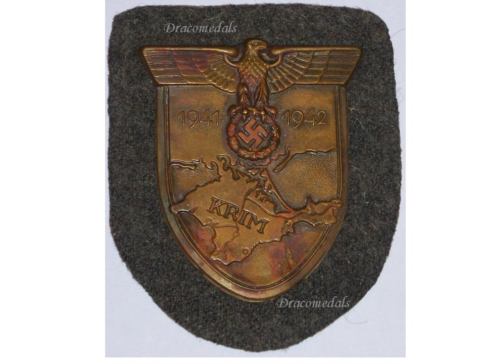 Nazi germany ww2 krim crimea shield wehrmacht military sleeve badge german dracomedals medals - German military decorations ww2 ...