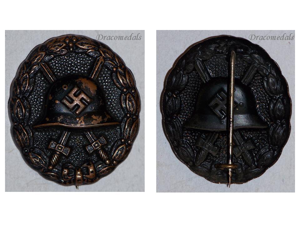 NAZI Germany Black Wound Badge Legion Condor 1935 1939 Spanish Civil War  WW2 German Decoration