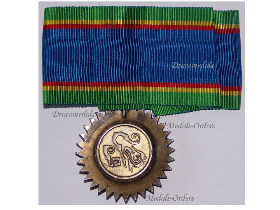 Thailand WW1 Order Crown Commander Badge Medal 3rd Class 1st type Thai  Military Civil Siam Siamese Mongkut Rama IV 1869